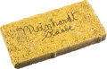 """Movie/TV Memorabilia:Autographs and Signed Items, A Meinhardt Raabe Signed Brick relating to """"The Wizard of Oz.""""..."""