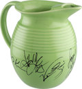 """Movie/TV Memorabilia:Autographs and Signed Items, A Cast Signed Water Pitcher from """"The Three Sisters.""""..."""