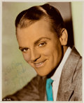Movie/TV Memorabilia:Autographs and Signed Items, A James Cagney Signed Hand-Tinted Photograph, Circa 1935....