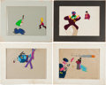 Music Memorabilia:Original Art, Beatles - Group of Four Original Yellow Submarine Animation Cels (King Features Syndicate, 1968).... (Total: 4 )
