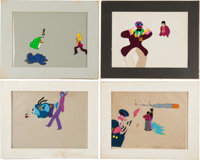 Beatles - Group of Four Original Yellow Submarine Animation Cels (King Features Syndicate, 1