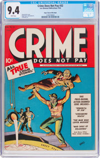 Crime Does Not Pay #32 Mile High Pedigree (Lev Gleason, 1944) CGC NM 9.4 White pages