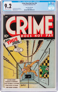Crime Does Not Pay #34 Mile High Pedigree (Lev Gleason, 1944) CGC NM- 9.2 Off-white to white pages