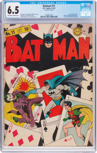 Batman #11 (DC, 1942) CGC FN+ 6.5 Off-white to white pages