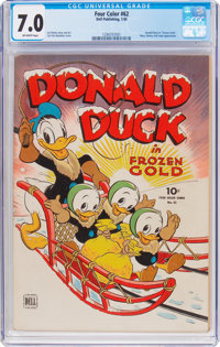Four Color #62 Donald Duck (Dell, 1945) CGC FN/VF 7.0 Off-white pages