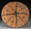 American Indian Art:Baskets, An Apache Pictorial Coiled Bowl...