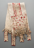 American Indian Art:Beadwork and Quillwork, An Apache Dog-Sized Double Saddle Bag ...