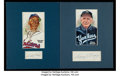 Autographs:Photos, Baseball Greats Signed Cut Signature Display Lot of 17....