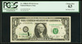 Error Notes:Ink Smears, Ink Smear on Face Error Fr. 1908-D $1 1974 Federal Reserve Note.PCGS Choice New 63.. ...