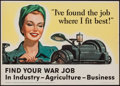 "Movie Posters:War, World War II Propaganda Poster (U.S. Government Printing Office,1943). Propaganda Poster (22.5"" X 16"") ""Find Your War Job....."