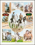 Movie Posters:Miscellaneous, The Lone Ranger (Clayton Moore and Jay Silverheels) Limited Edition Print (Nostalgia Merchant, 1977). Autographed Poster (24...