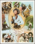 """Movie Posters:Western, Roy Rogers Print (Nostalgia Merchant, 1977). Signed PersonalityPoster (24"""" X 30""""). Western.. ..."""