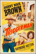 "Movie Posters:Western, Triggerman & Other Lot (Monogram, 1948). One Sheets (2) (27"" X 41""). Western.. ... (Total: 2 Items)"