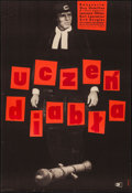 """Movie Posters:Comedy, The Devil's Disciple (CWF, 1962). First Polish Release Poster (23""""X 33"""") Maurycy Stryjecki Artwork. Comedy.. ..."""