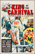 """Movie Posters:Serial, King of the Carnival (Republic, 1955). Folded, Very Fine-. One Sheet (27"""" X 41""""). Serial.. ..."""