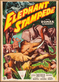 "Movie Posters:Adventure, Elephant Stampede (Monogram, 1951). One Sheet (27"" X 41"").Adventure.. ..."
