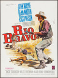 "Movie Posters:Western, Rio Bravo (Warner Brothers, R-1964). French Affiche (23.5"" X31.5""). Western.. ..."