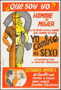 Movie Posters:Exploitation, Glen or Glenda (I Led Two Lives) (Screen Classics Inc.,1961Argentinean Poster (29.25 43.5). Exploitation.. ...