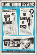 "Movie Posters:Exploitation, Glen or Glenda (I Led Two Lives)/Mon & Dad/Third Sex TripleFeature (c. R-1960s). Argentinean Poster (29"" X 43.25""). Exploit..."