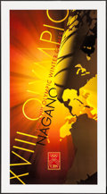 """Movie Posters:Sports, Olympics 1998 Winter Games - Nagano, Japan (CBS, 1998). Poster (21.5"""" X 39.5""""). Sports.. ..."""