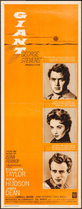 "Movie Posters:Drama, Giant (Warner Brothers, R-1963). Insert (14"" X 36""). Drama.. ..."