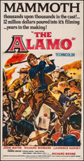 "Movie Posters:Western, The Alamo (United Artists, 1960). Three Sheet (41"" X 78.5""). Western.. ..."