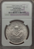 China:Kiangnan, China: Kiangnan. Kuang-hsu Dollar CD 1904 AU Details (SurfaceHairlines) NGC,...