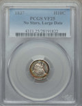 Seated Half Dimes, 1837 H10C No Stars, Large Date (Curl Top 1) VF25 PCGS. PCGS Population: (10/857). NGC Census: (9/1047). Mintage 1,405,000....