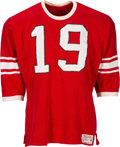 Football Collectibles:Uniforms, Mid 1950's Karl Noonan Game Worn & Signed East West Shrine Game Jersey....