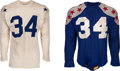 Football Collectibles:Uniforms, Circa 1952 John Alderton Game Worn College All Star and Blue Grey Game Jerseys (2)....