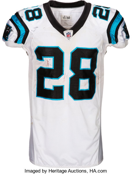 83679 Carolina Heritage Worn Game 2011 Stewart Panthers Lot Auctions Jonathan Unwashed