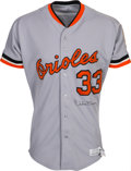 Baseball Collectibles:Uniforms, 1982 Eddie Murray Signed Game Worn Baltimore Orioles Jersey....
