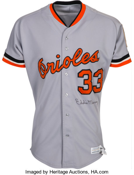 release date 3ff3d 9bfce 1982 Eddie Murray Signed Game Worn Baltimore Orioles Jersey ...