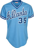 Baseball Collectibles:Uniforms, 1982 Phil Niekro Signed Game Worn Atlanta Braves Jersey....
