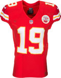 Football Collectibles:Uniforms, 2016 Jeremy Maclin Game Worn, Unwashed Kansas City Chiefs Jersey....