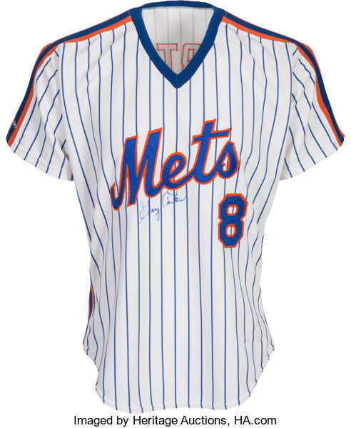 reputable site c2732 d39cf 1987 Gary Carter Game Worn Signed New York Mets Jersey with ...