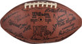 Football Collectibles:Balls, 1972 Green Bay Packers Team Signed Presentational Game Football....