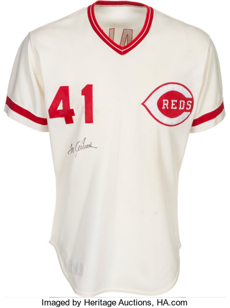 new styles 33dbf cb5a7 1978 Tom Seaver Signed Game Worn Cincinnati Reds Jersey ...