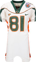 Football Collectibles:Uniforms, 2004 Kellen Winslow Jr. Game Worn FedEx Orange Bowl Jersey and Pants....