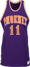 Basketball Collectibles:Uniforms, Early 1970's Clem Haskins Game Worn Phoenix Suns Jersey andShorts....