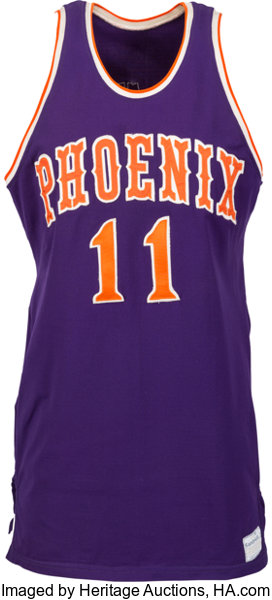 7ebe4cb8b Early 1970 s Clem Haskins Game Worn Phoenix Suns Jersey