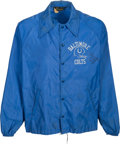 Football Collectibles:Uniforms, 1960's Jimmy Orr Game Worn Baltimore Colts Windbreaker. ...