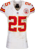 Football Collectibles:Uniforms, 2014 Jamaal Charles Game Worn, Unwashed Kansas City Chiefs Jersey - Photo Matched to 12/7 vs. Cardinals! ...