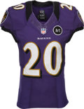 Football Collectibles:Uniforms, 2012 Ed Reed Game Worn, Unwashed Baltimore Ravens Jersey - Photo Matched to 11/11 vs. Raiders....