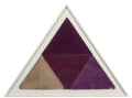 Fine Art - Work on Paper:Print, Mon Levinson (1926-2014). Untitled (Violet Triangle), 1979. Lithograph with handcoloring and collage on handmade paper. ...