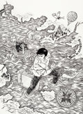 Original Comic Art:Covers, Yuko Shimizu The Unwritten #4 Cover Original Art (DC,2009)....
