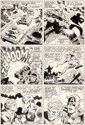 Original Comic Art:Panel Pages, Jack Kirby, John Romita Sr., and Frank Giacoia (as FrankRay)Tales of Suspense #77 Story Page 8 Captain America Or...