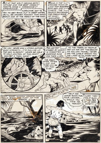 Matt Baker Seven Seas Comics #3 Story Page 3 Original Art (Leader Enterprises/Universal Phoenix Features, 1947)