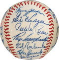 Baseball Collectibles:Balls, 1957 Brooklyn Dodgers Team Signed Baseball from Walter Alston's Estate, PSA/DNA NM-MT+ 8.5.. ...