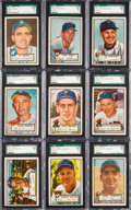 Baseball Cards:Lots, 1952 Topps Baseball SGC 84 NM 7 High Number Collection (9). ...